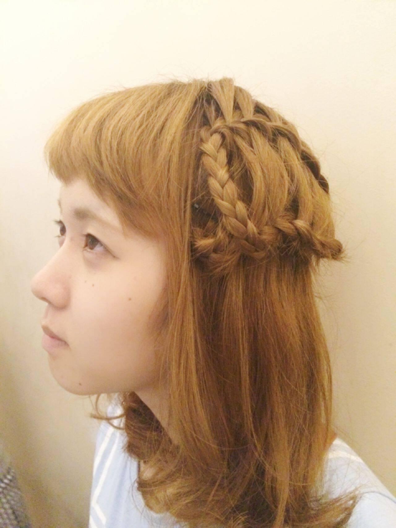 夏ヘアスタイルや髪型の写真・画像