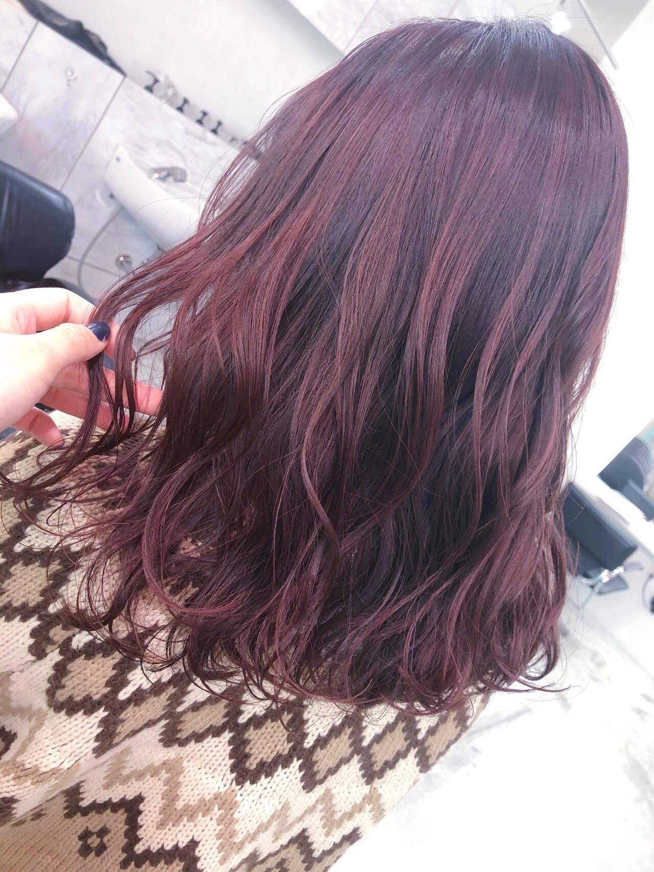 ラベンダーアッシュ ラベンダー ロング ピンクラベンダーヘアスタイルや髪型の写真・画像