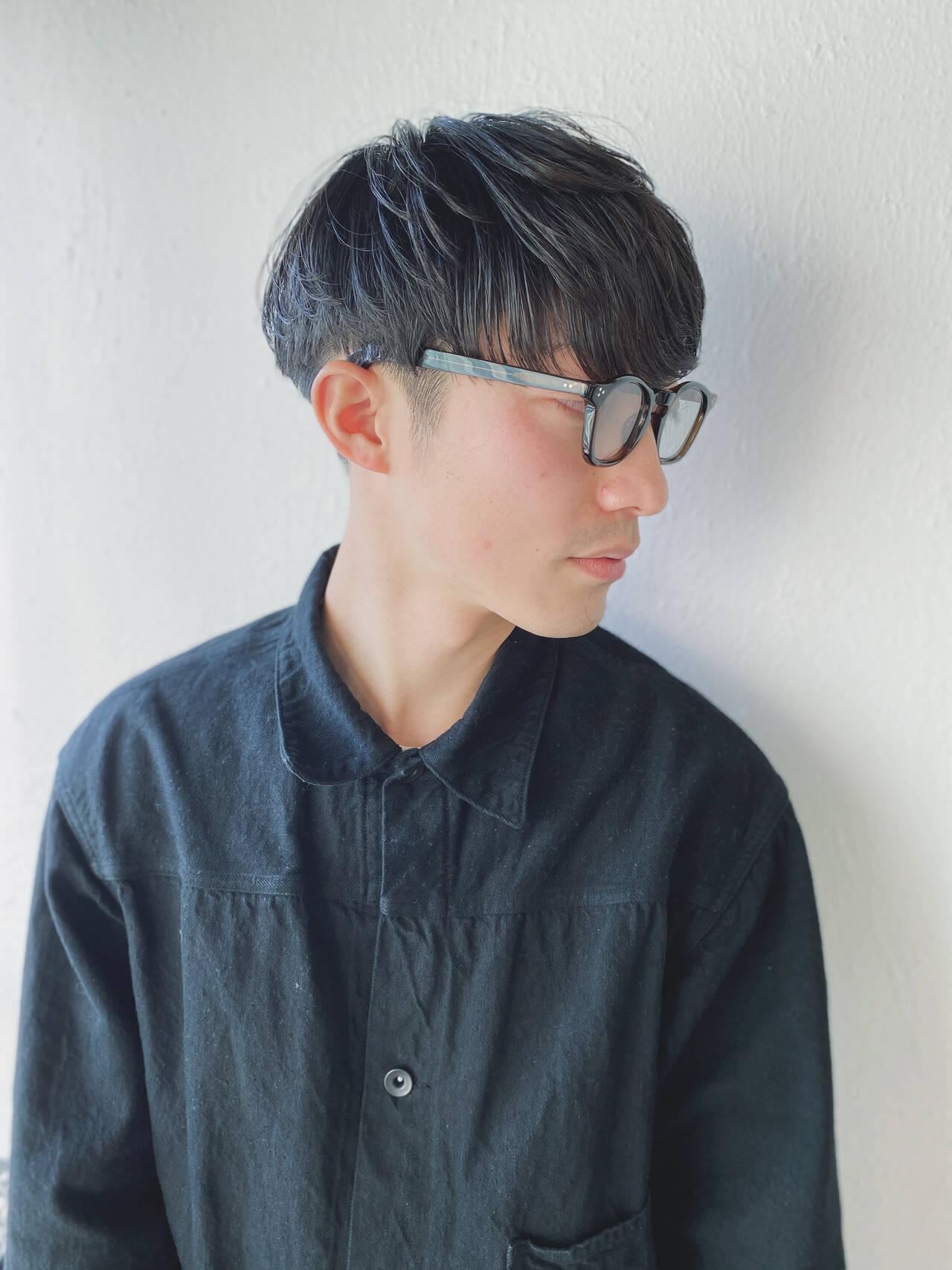メンズスタイル マッシュショート ツーブロック 黒髪ヘアスタイルや髪型の写真・画像