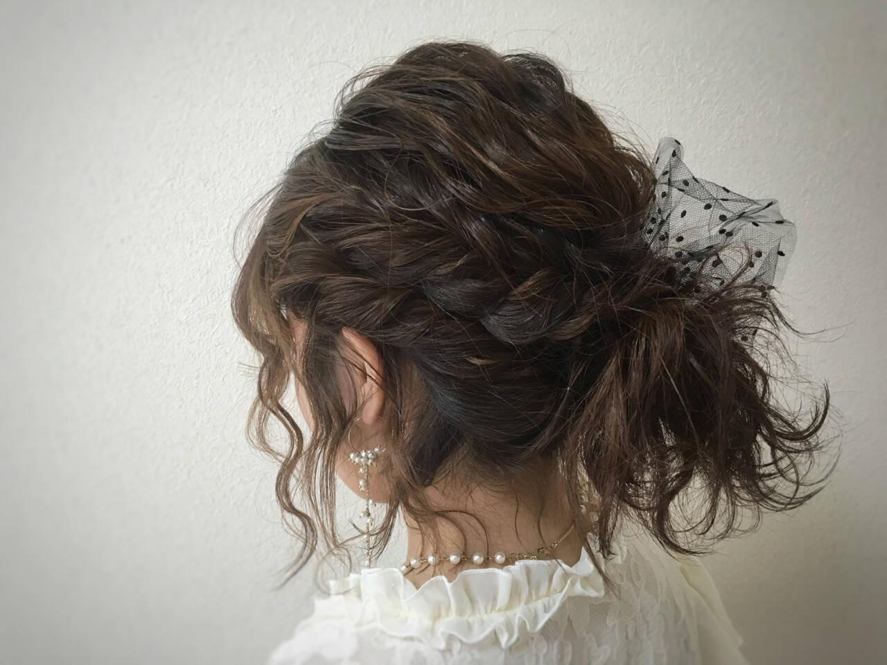 ヘアアレンジ ボブ 波ウェーブヘアスタイルや髪型の写真・画像