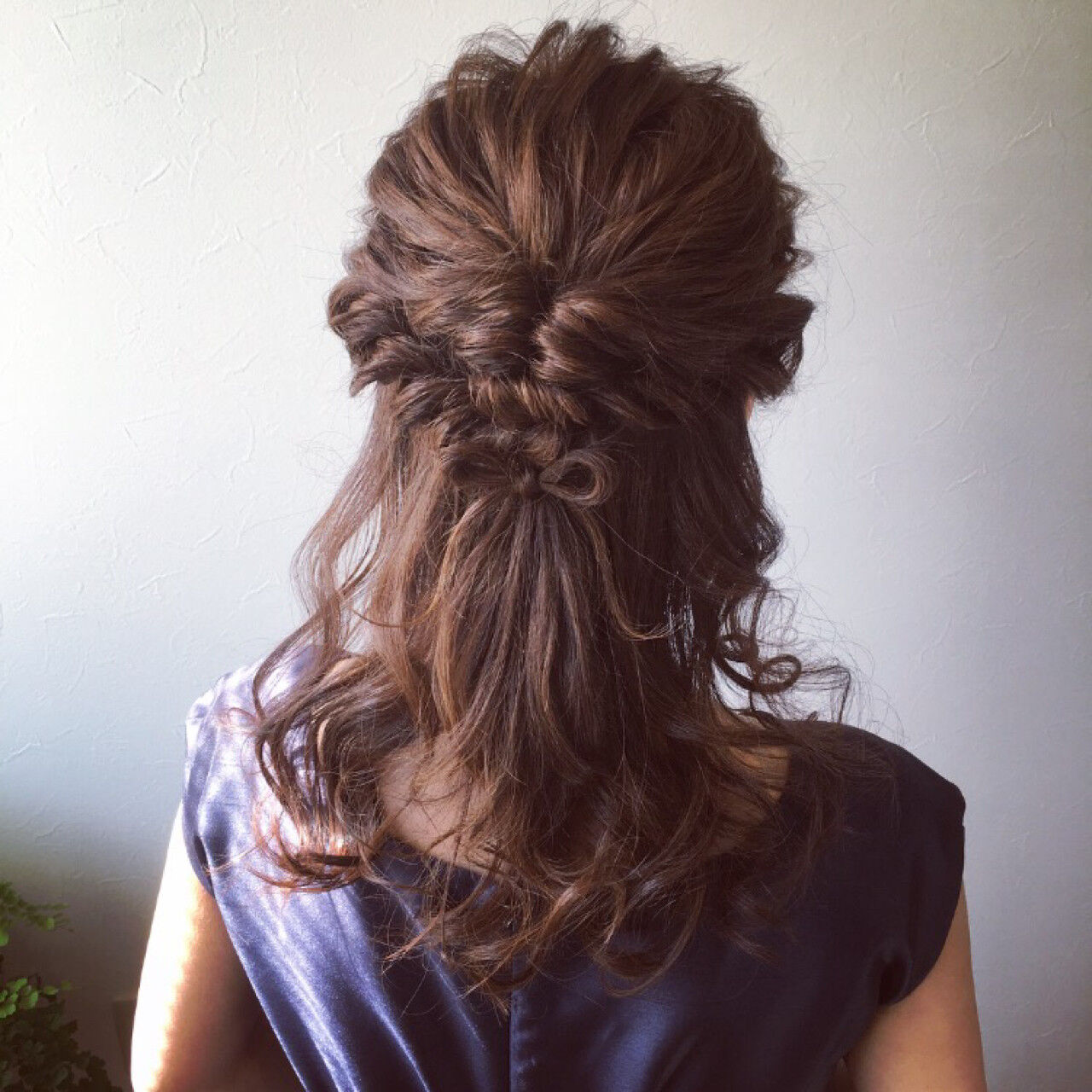 ロング フェミニン 簡単ヘアアレンジ 結婚式ヘアスタイルや髪型の写真・画像