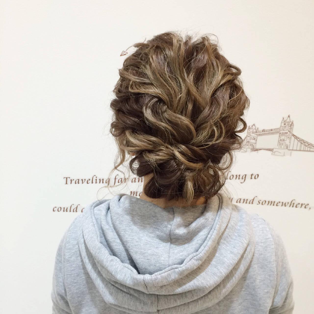 ショート 簡単ヘアアレンジ 結婚式 ヘアアレンジヘアスタイルや髪型の写真・画像