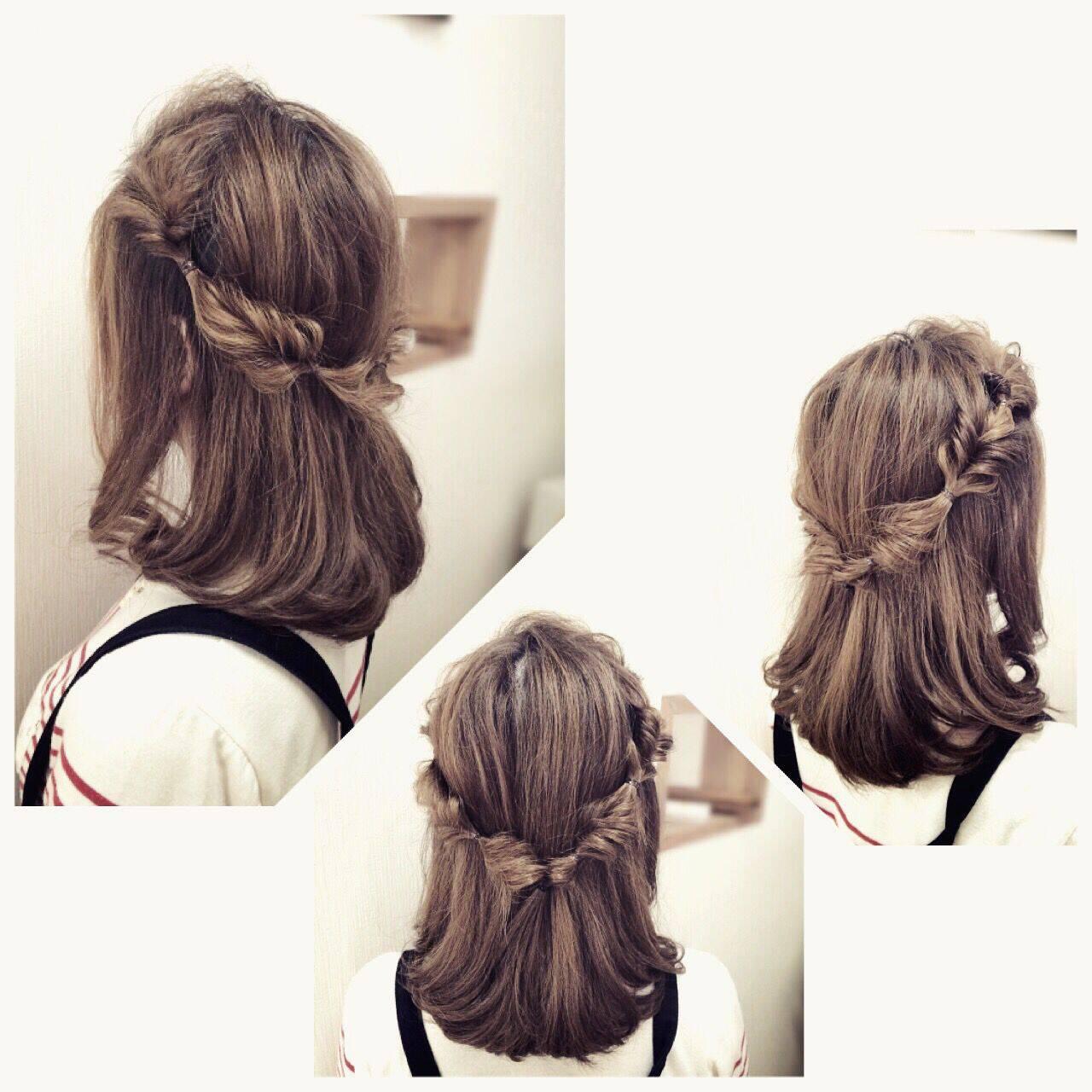 ナチュラル ロング パーティ アップスタイルヘアスタイルや髪型の写真・画像