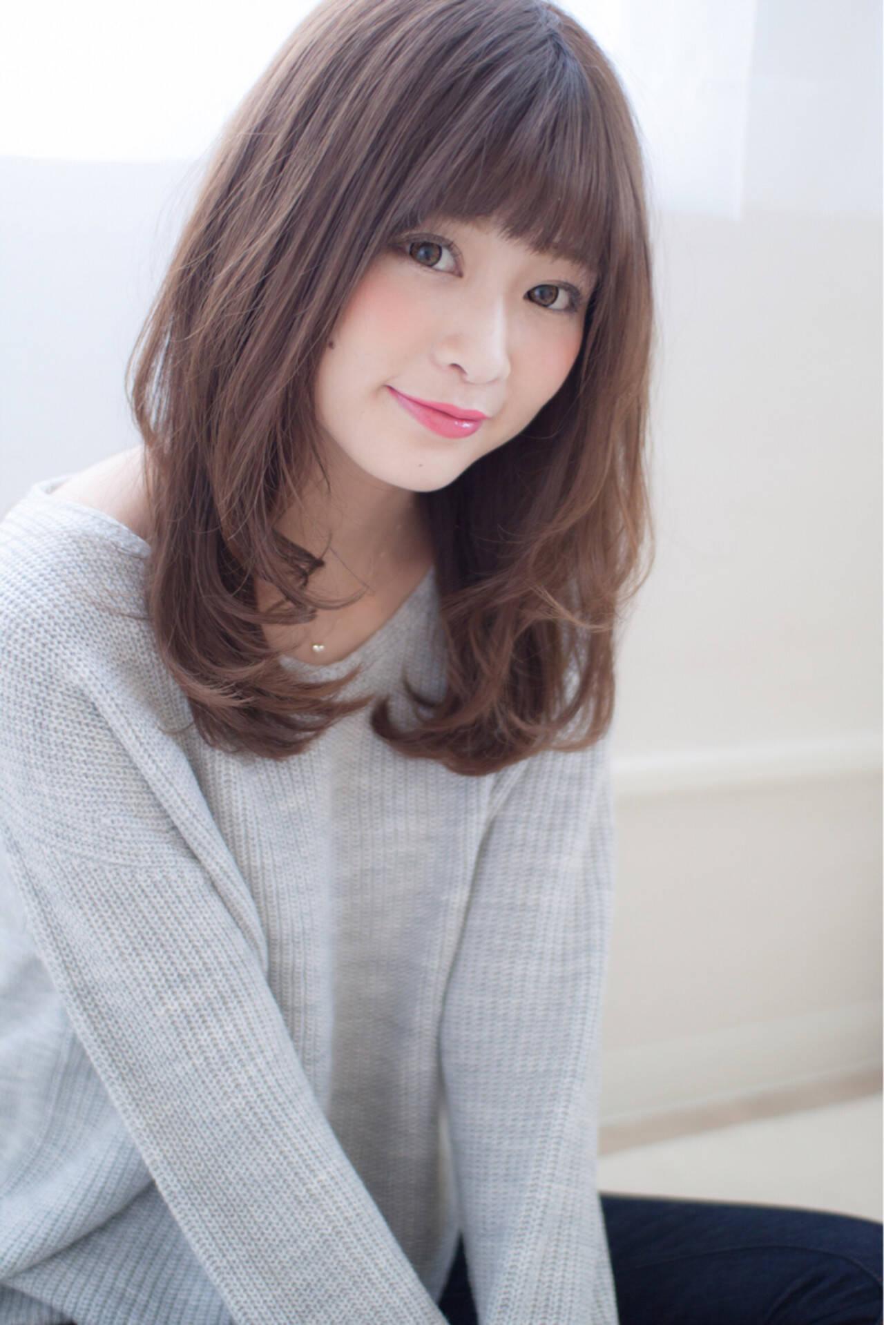 大人かわいい 大人女子 小顔 外国人風ヘアスタイルや髪型の写真・画像