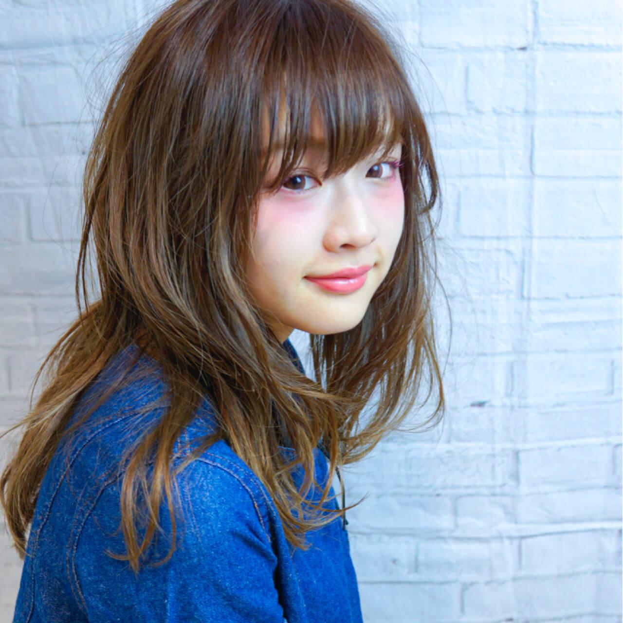 愛され モテ髪 デート ナチュラルヘアスタイルや髪型の写真・画像