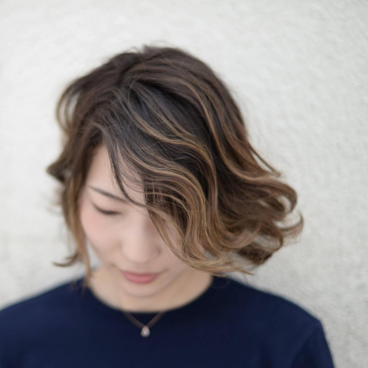 ハイライト 3Dカラー グラデーションカラー ストリートヘアスタイルや髪型の写真・画像