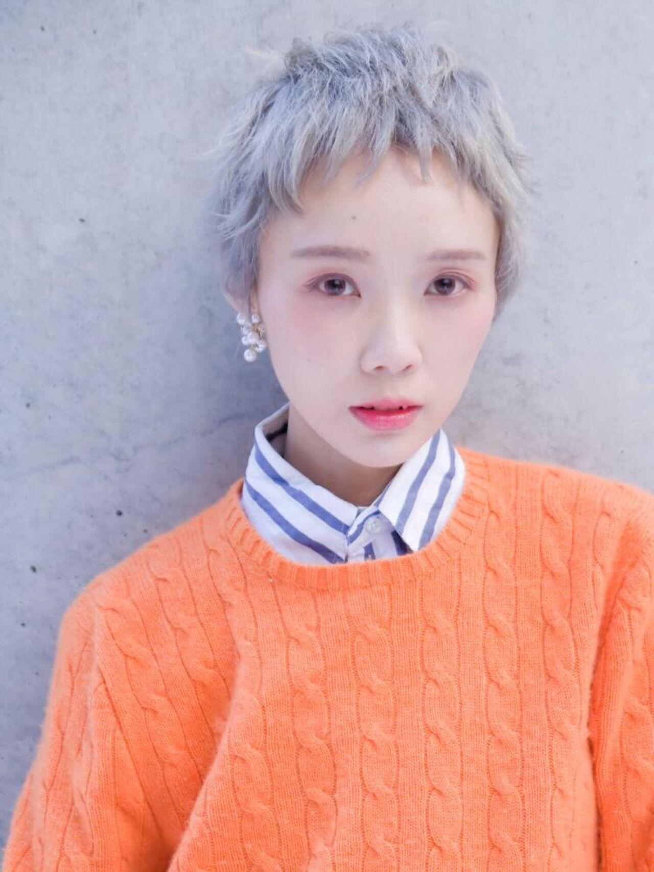 ハイトーン 外国人風カラー ナチュラル ヘアアレンジヘアスタイルや髪型の写真・画像