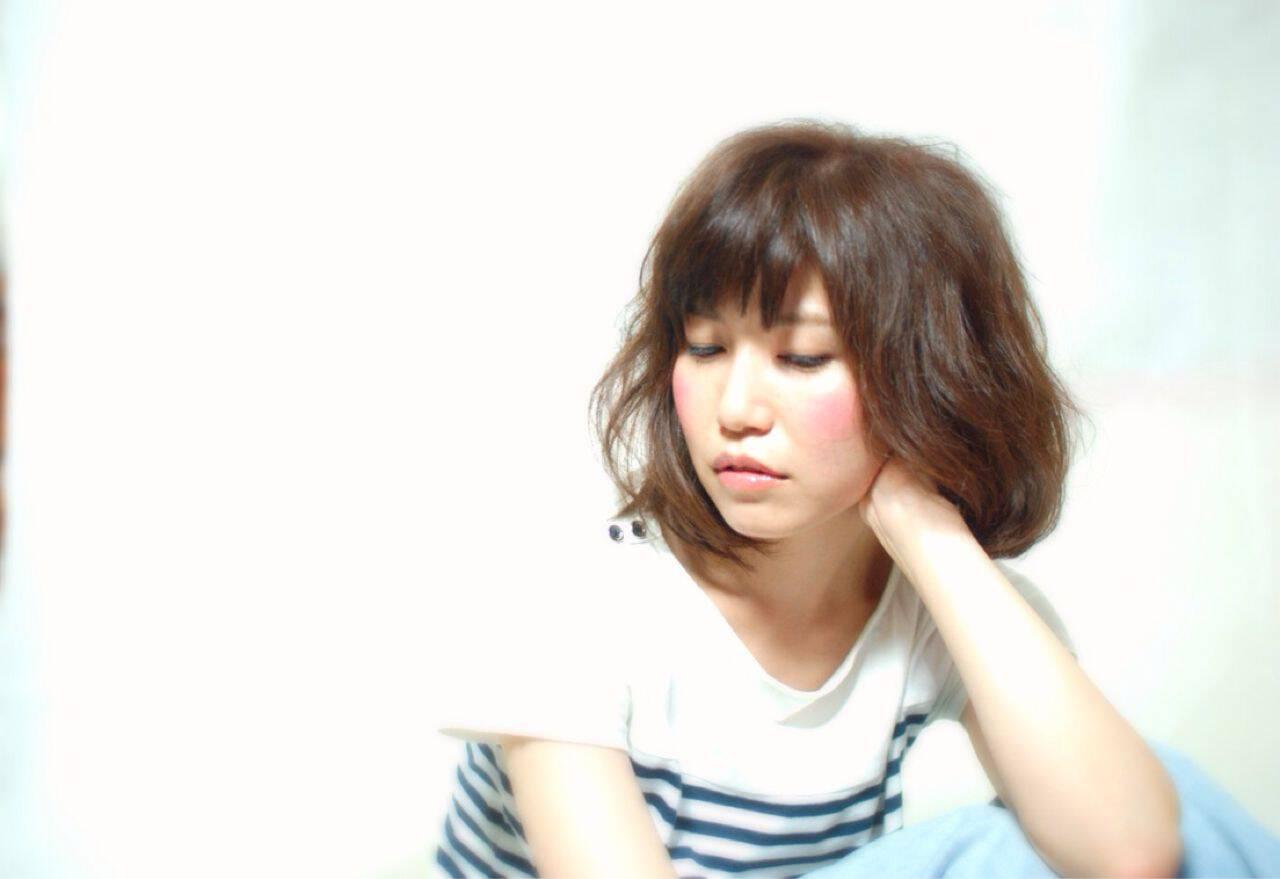 ミディアム 夏ヘアスタイルや髪型の写真・画像