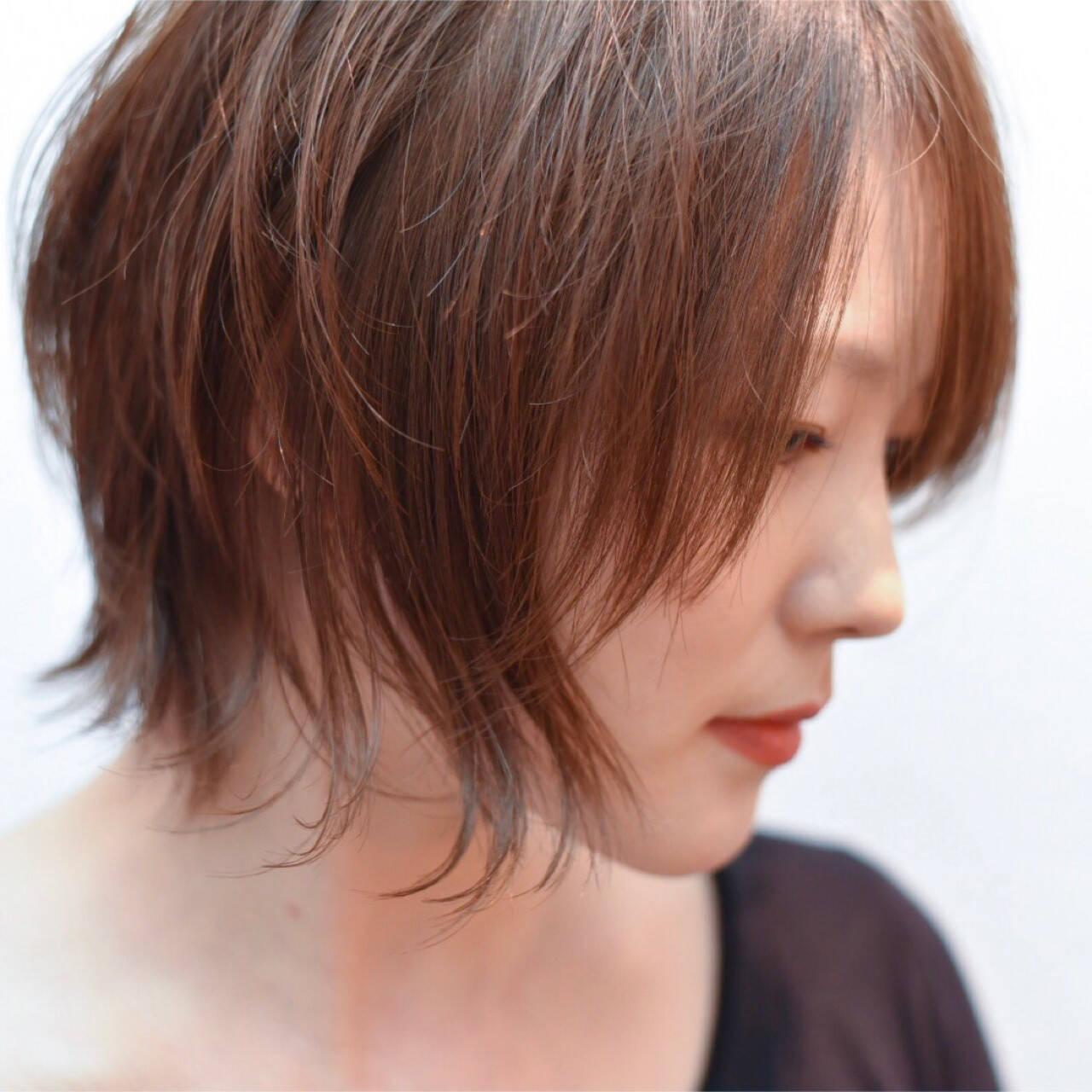 外国人風 大人かわいい ショート ハイライトヘアスタイルや髪型の写真・画像