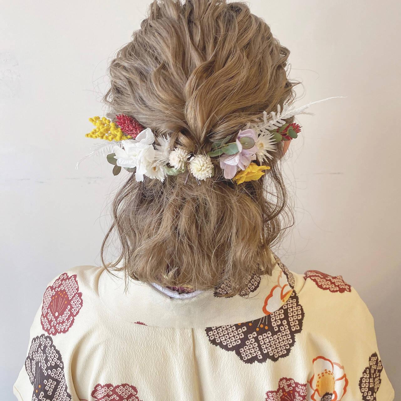 成人式ヘア 成人式 フェミニン 卒業式ヘアスタイルや髪型の写真・画像