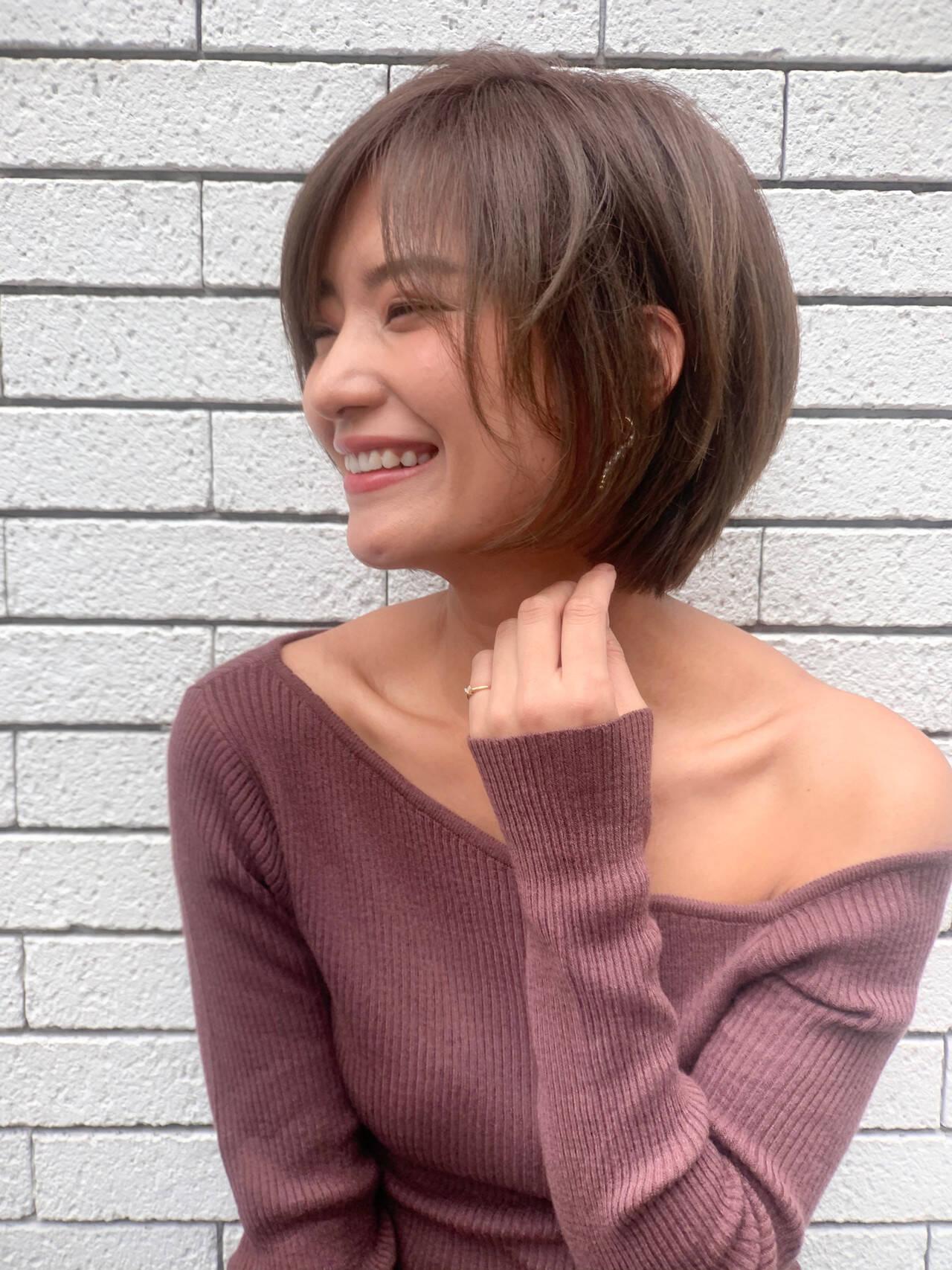 ショートヘア ショート  前髪ありヘアスタイルや髪型の写真・画像