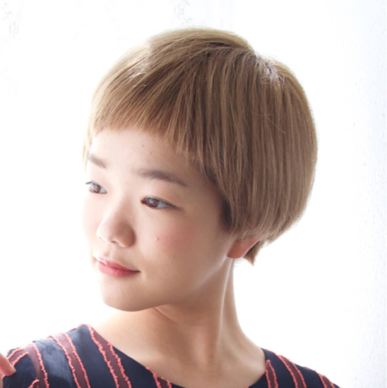 ボブ ラフ マッシュ ショートヘアスタイルや髪型の写真・画像