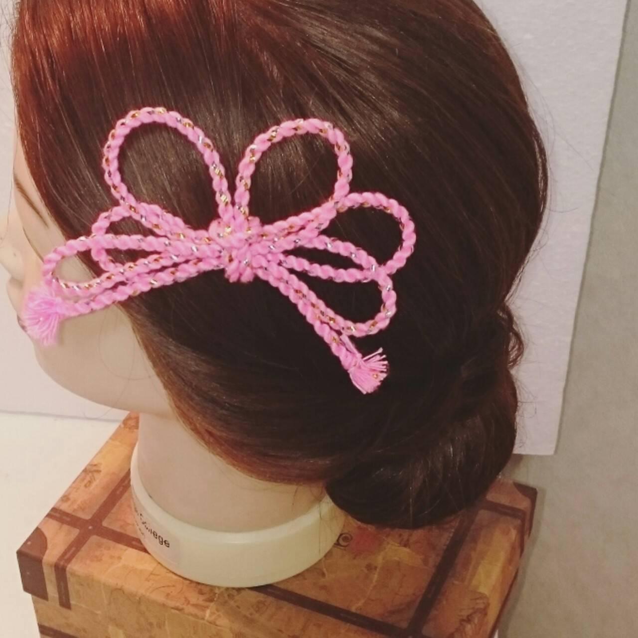 ヘアアレンジ 夜会巻 和装 ブライダルヘアスタイルや髪型の写真・画像