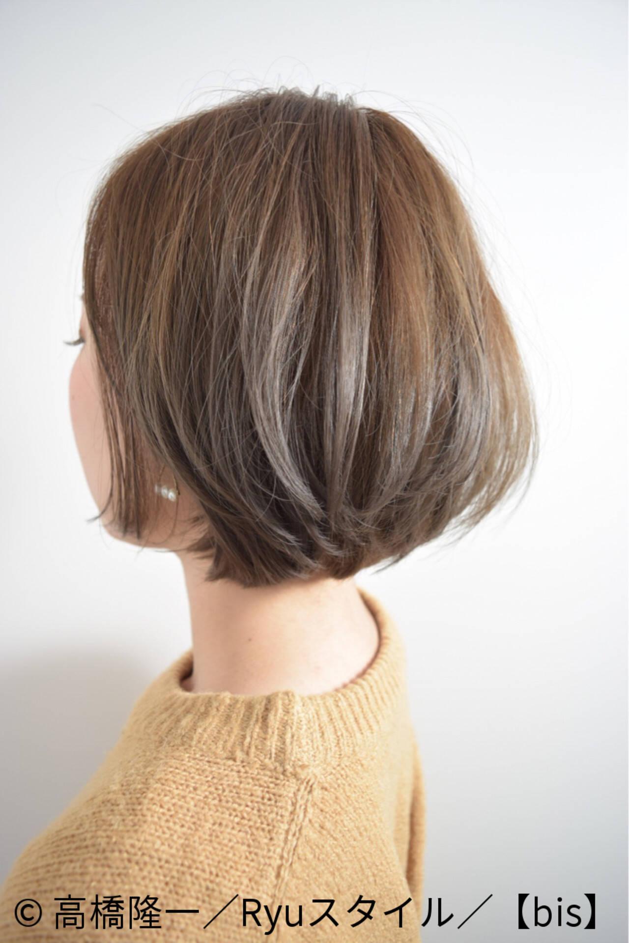 ブラウン ナチュラル ショートボブ 外国人風ヘアスタイルや髪型の写真・画像