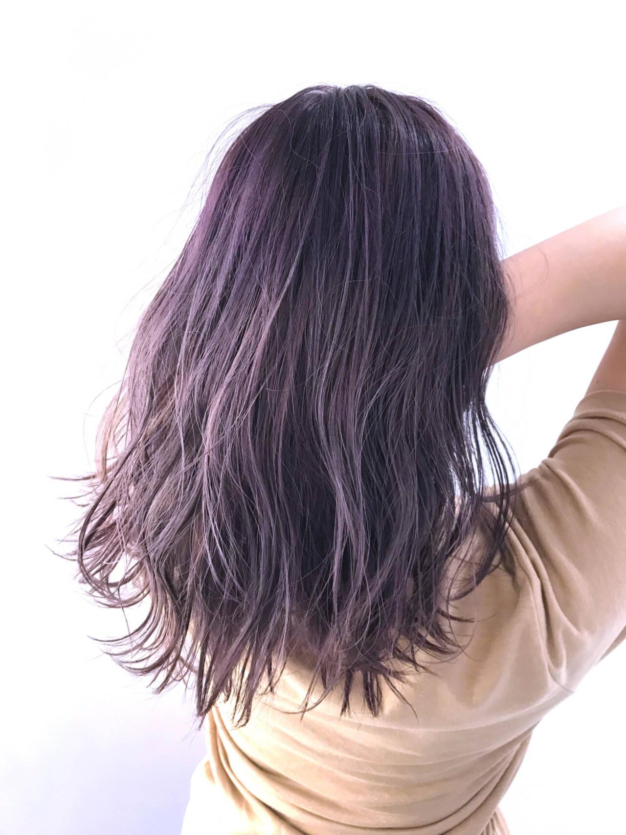 ナチュラル ラベンダーピンク ピンクブラウン ピンクヘアスタイルや髪型の写真・画像