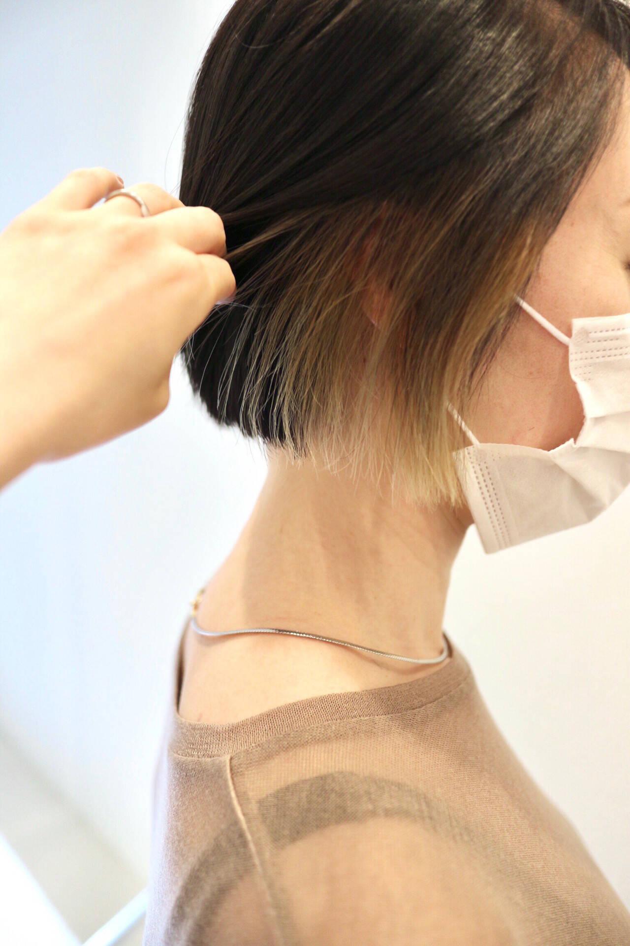 ミニボブ ストリート ショート ショートヘアヘアスタイルや髪型の写真・画像