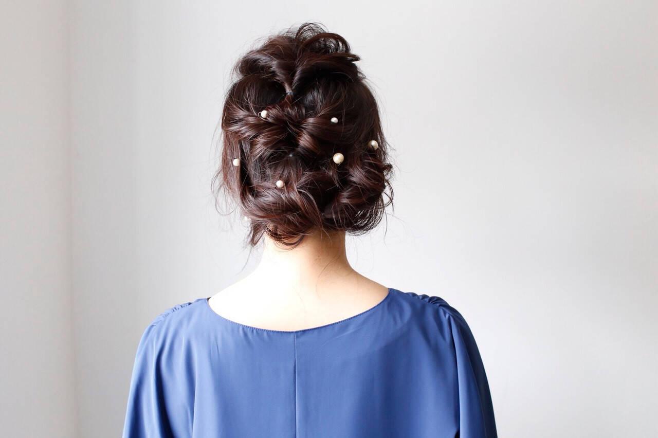 ロング 結婚式 成人式 ヘアアレンジヘアスタイルや髪型の写真・画像