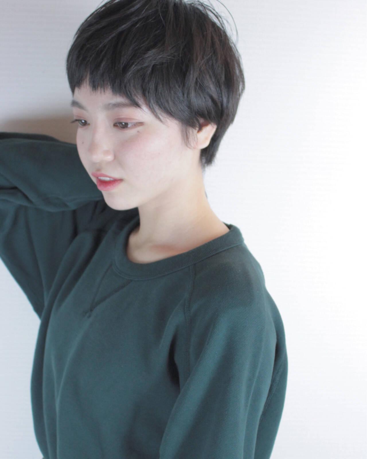 ガーリー マッシュ 冬 ショートヘアスタイルや髪型の写真・画像