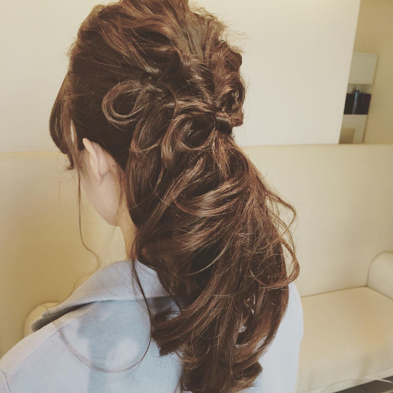 大人女子 ヘアアレンジ フェミニン ルーズヘアスタイルや髪型の写真・画像