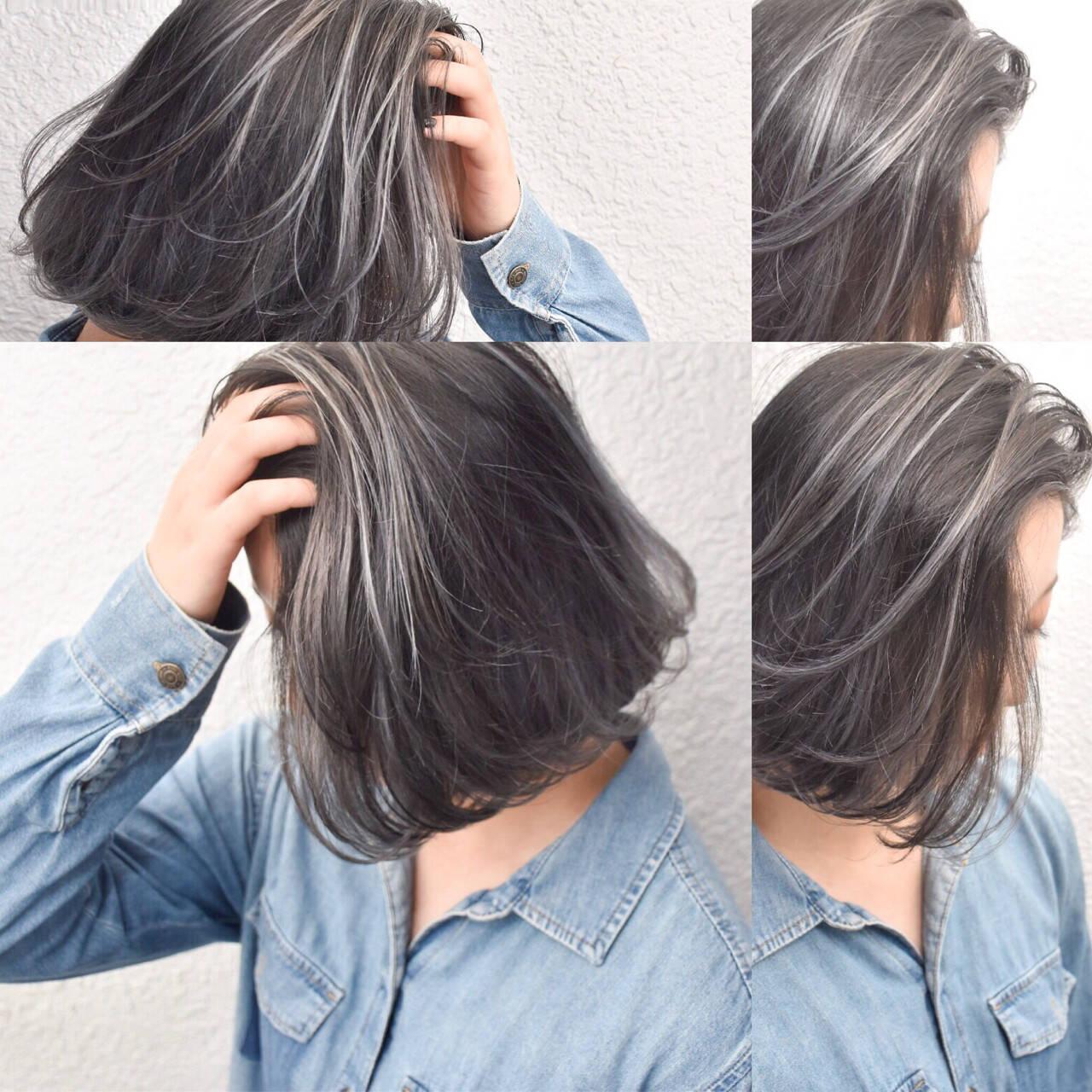 ストリート ハイライト 外国人風 ボブヘアスタイルや髪型の写真・画像