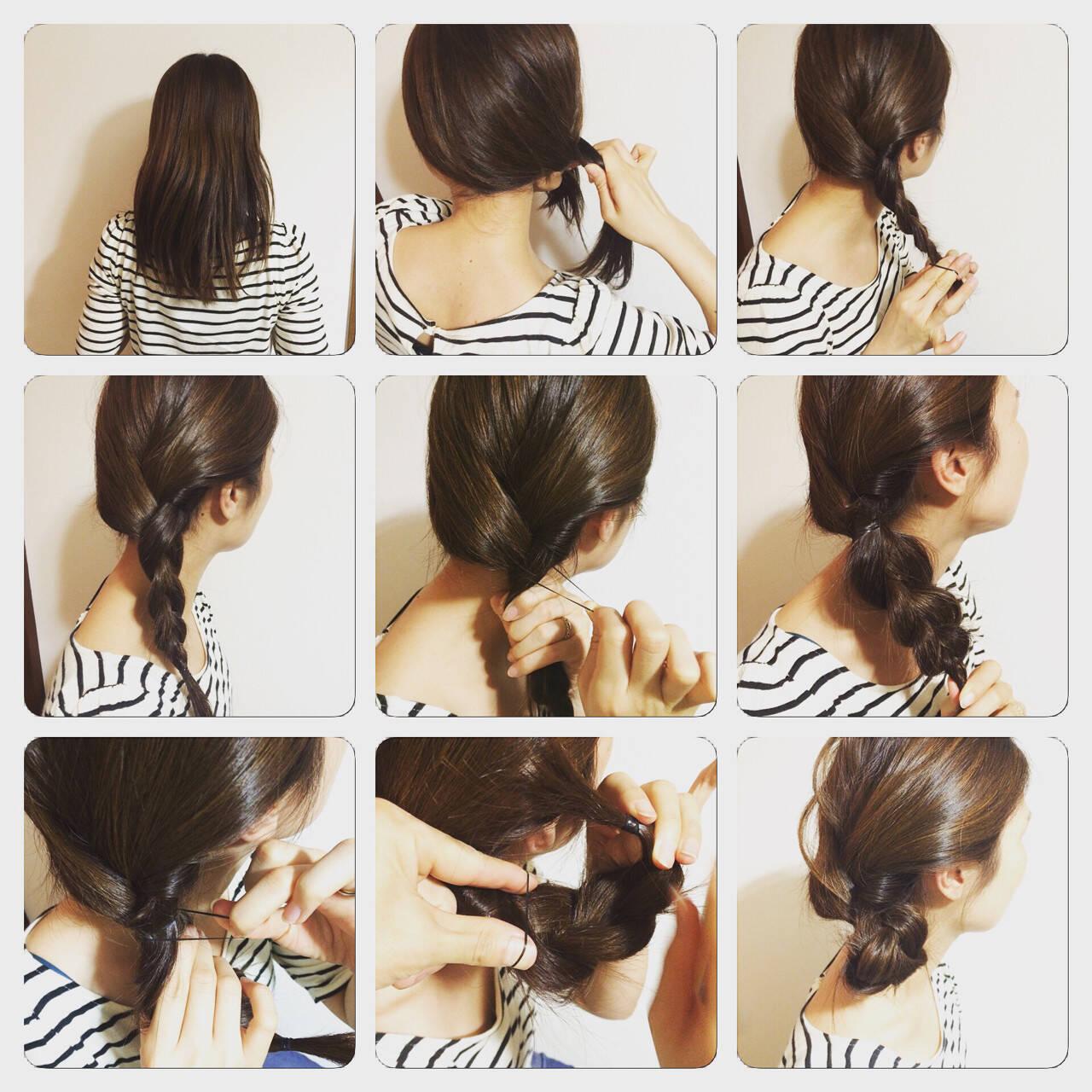 シニヨン ショート ヘアアレンジ 簡単ヘアアレンジヘアスタイルや髪型の写真・画像