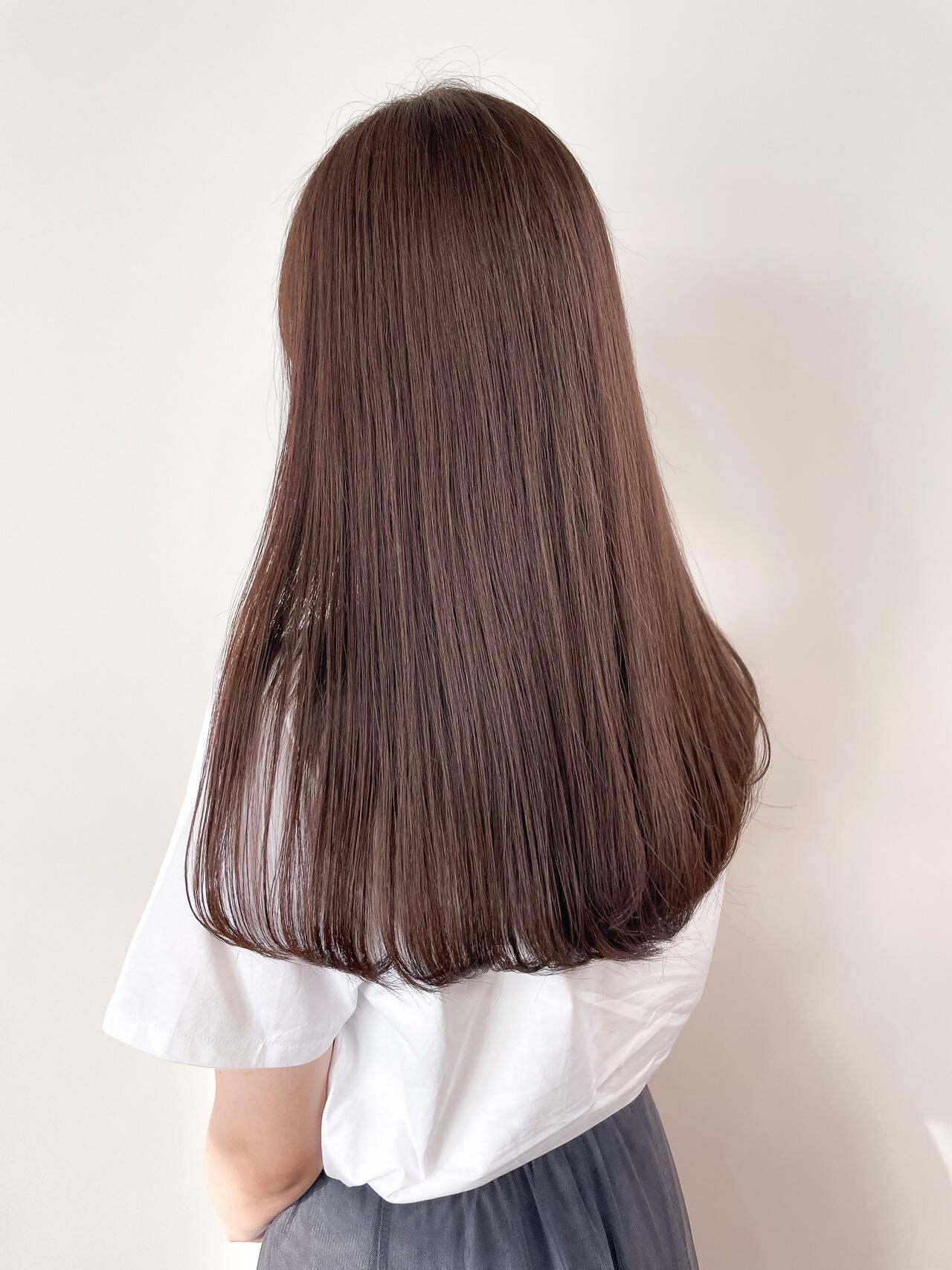 ブラウン ナチュラル ラベンダーグレージュ 秋ブラウンヘアスタイルや髪型の写真・画像