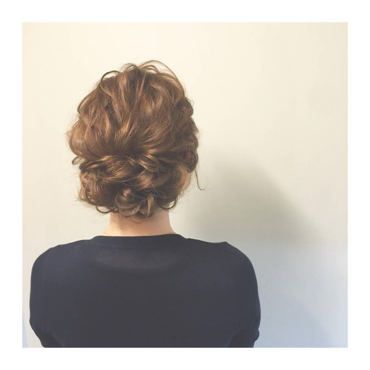 簡単ヘアアレンジ ゆるふわ 夏 セミロングヘアスタイルや髪型の写真・画像