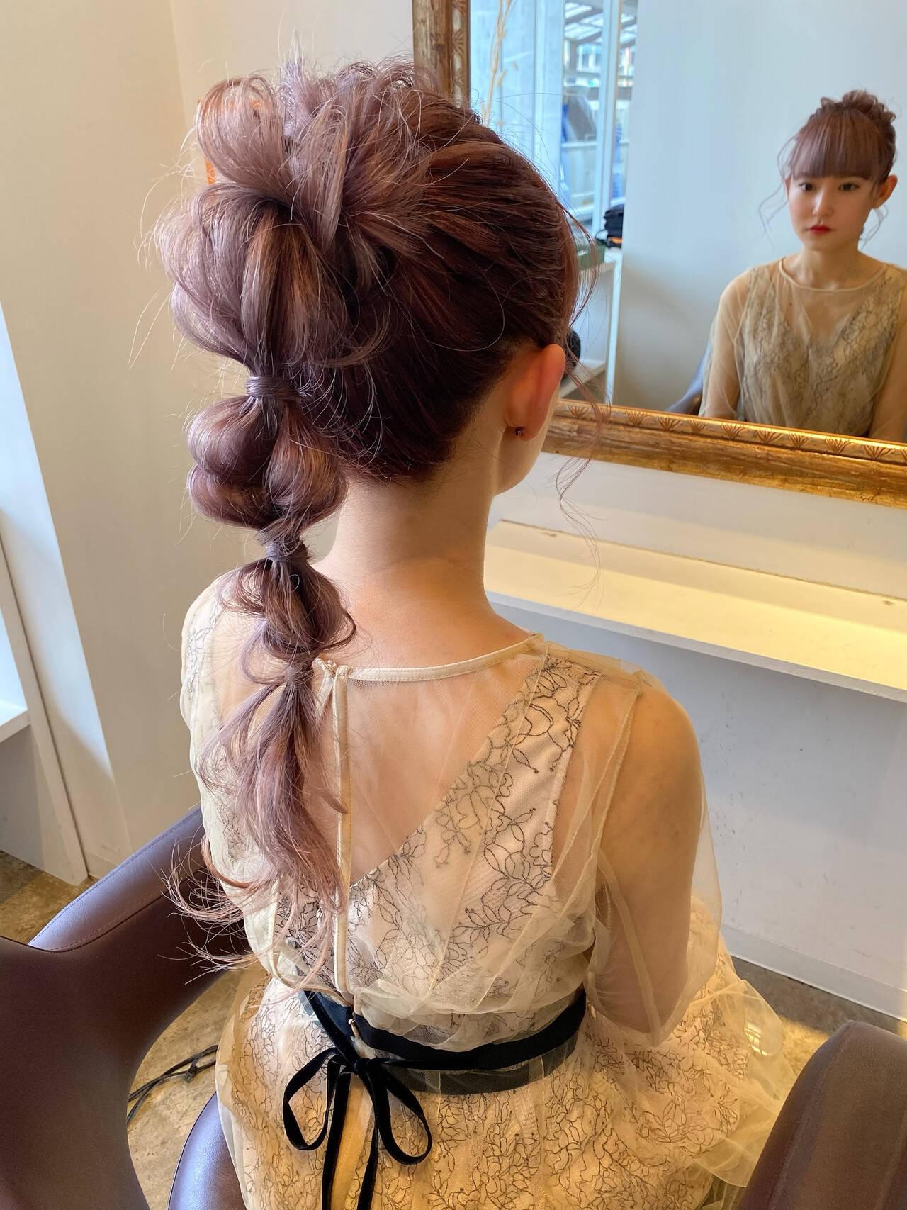 簡単ヘアアレンジ セルフヘアアレンジ 結婚式ヘアアレンジ エレガントヘアスタイルや髪型の写真・画像