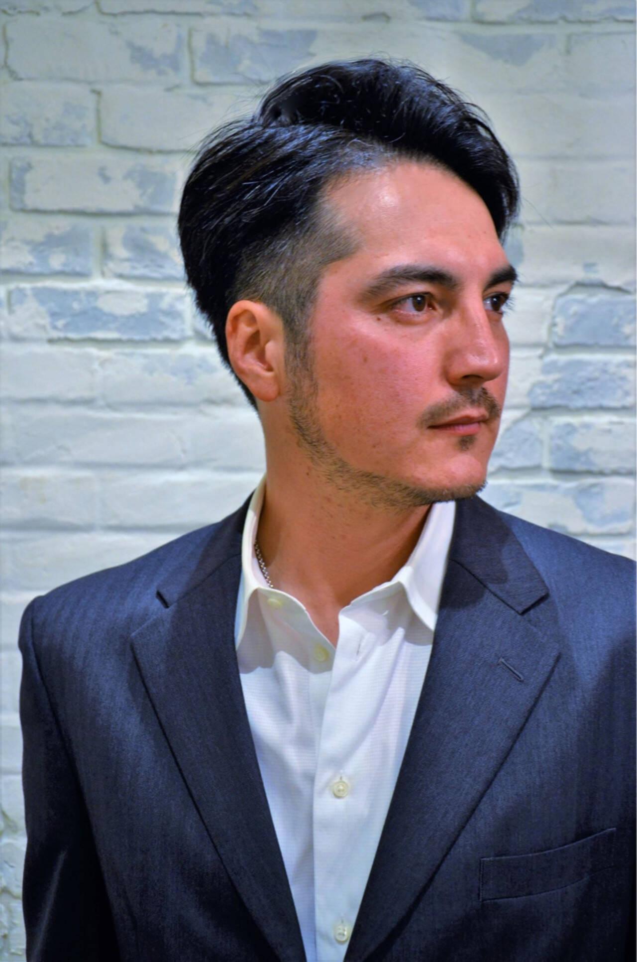黒髪 ショート コンサバ メンズヘアスタイルや髪型の写真・画像