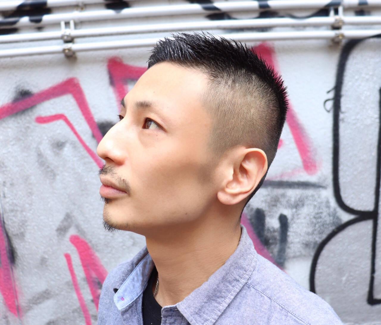 ストリート メンズヘア ショート ベリーショートヘアスタイルや髪型の写真・画像