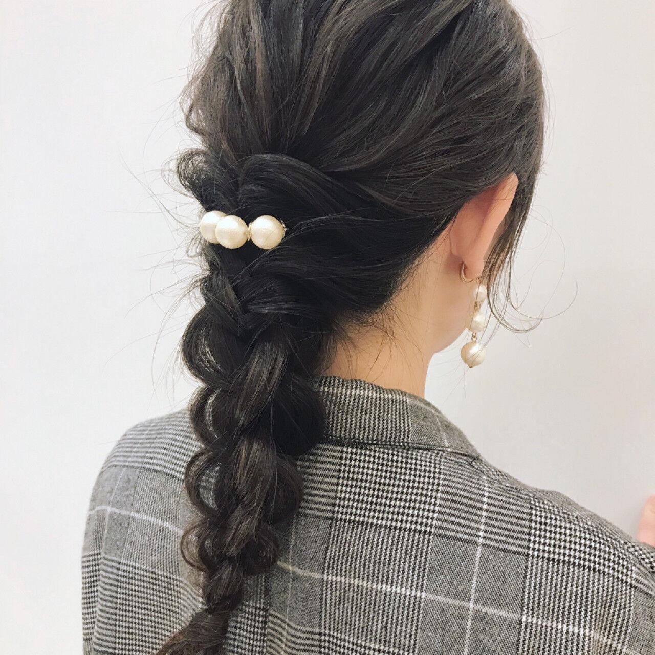 ナチュラル ウェーブ 結婚式 ミディアムヘアスタイルや髪型の写真・画像