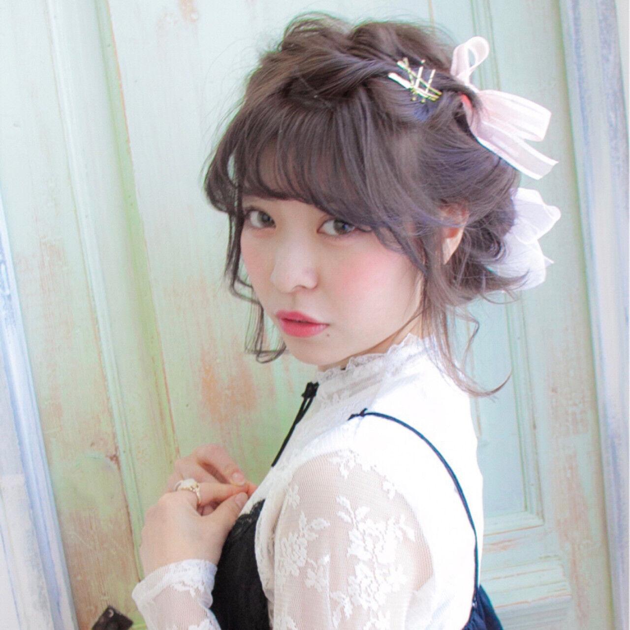 大人女子 ゆるふわ ショート ヘアアレンジヘアスタイルや髪型の写真・画像