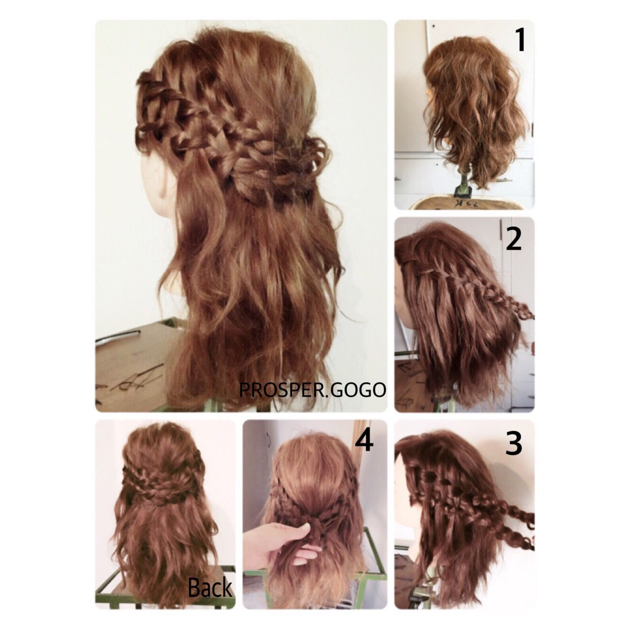 二次会 コンサバ ウォーターフォール セミロングヘアスタイルや髪型の写真・画像