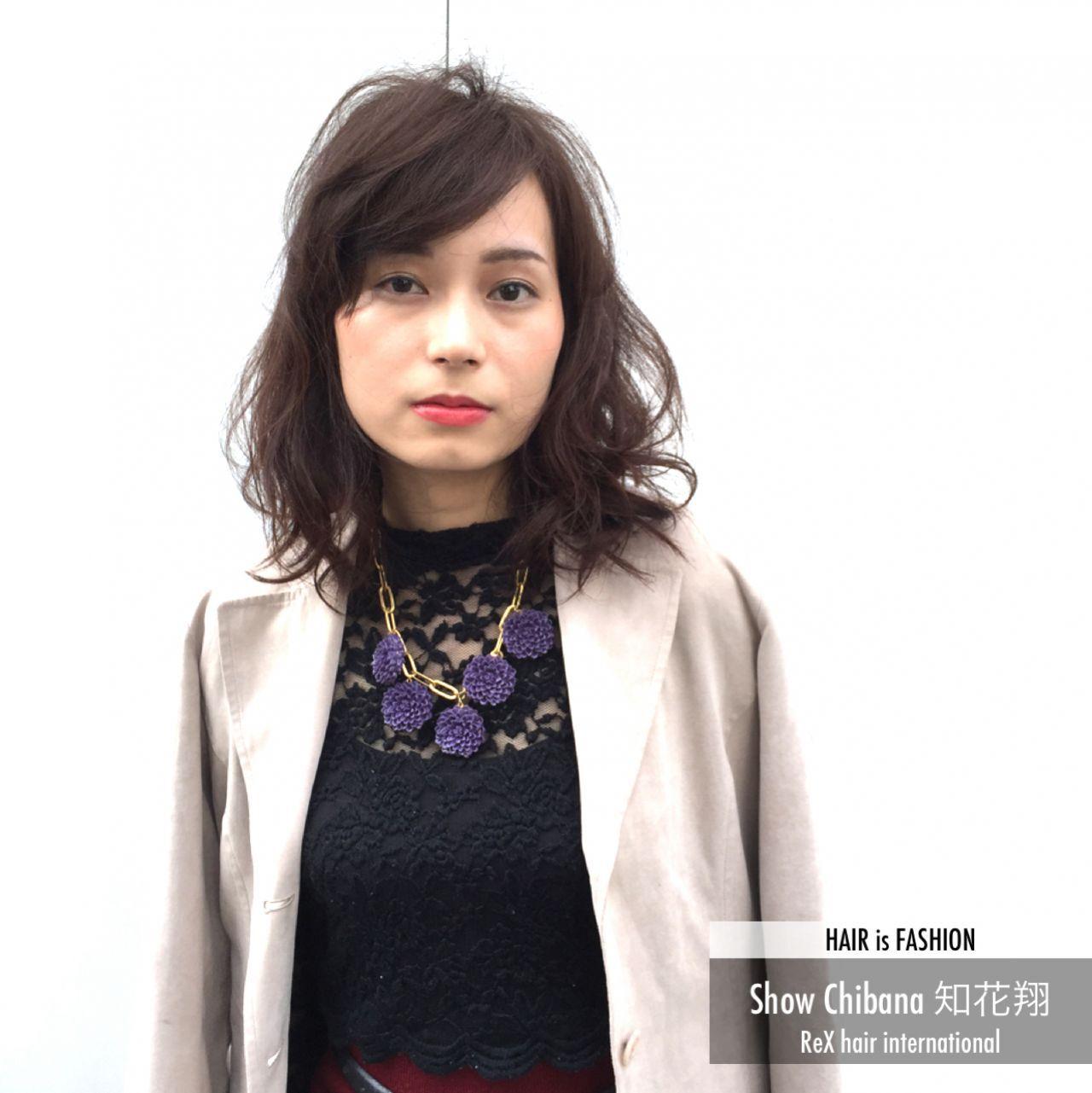 暗髪 外国人風 モード マルサラヘアスタイルや髪型の写真・画像