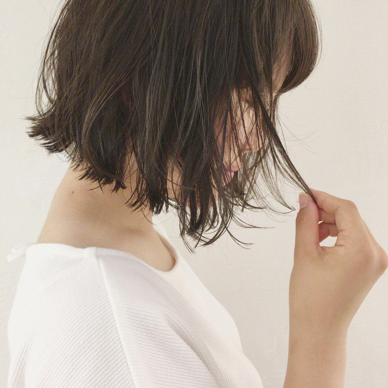 ゆるふわ ボブ ショートボブ ナチュラルヘアスタイルや髪型の写真・画像