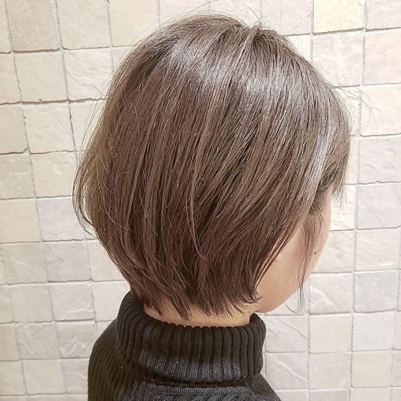 ショートボブ 小顔ショート ショート ショートヘアヘアスタイルや髪型の写真・画像