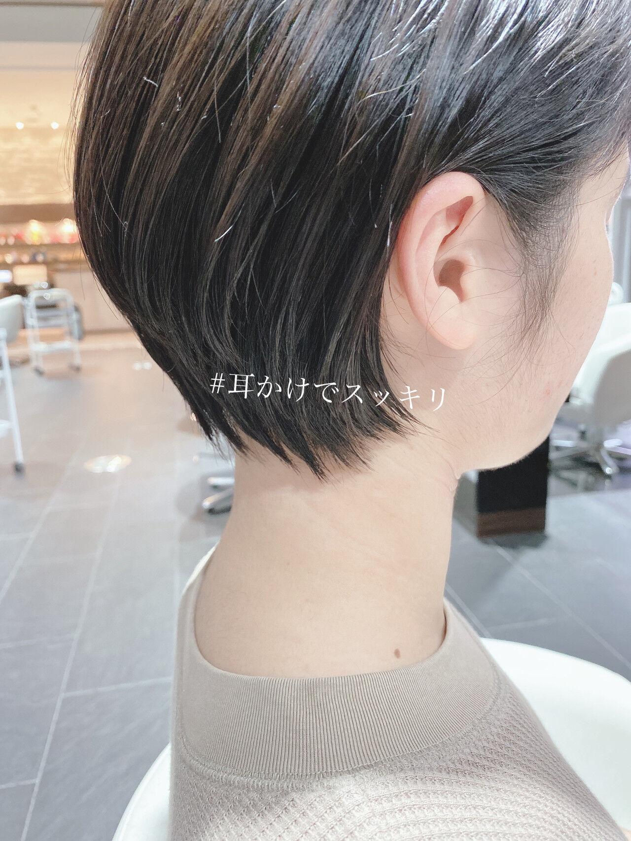 ショート ショートボブ ミニボブ ベリーショートヘアスタイルや髪型の写真・画像