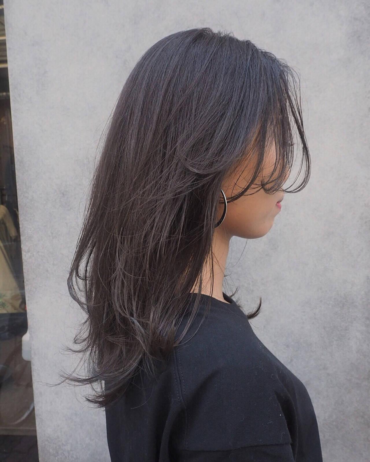 セミロング レイヤーカット ナチュラル ロングヘアスタイルや髪型の写真・画像