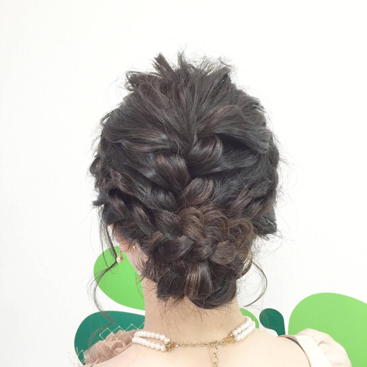 簡単ヘアアレンジ ヘアアレンジ モテ髪 セミロングヘアスタイルや髪型の写真・画像