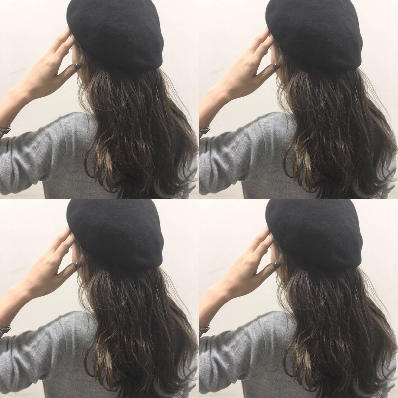 ヘアアレンジ ロング ハイライト 暗髪ヘアスタイルや髪型の写真・画像