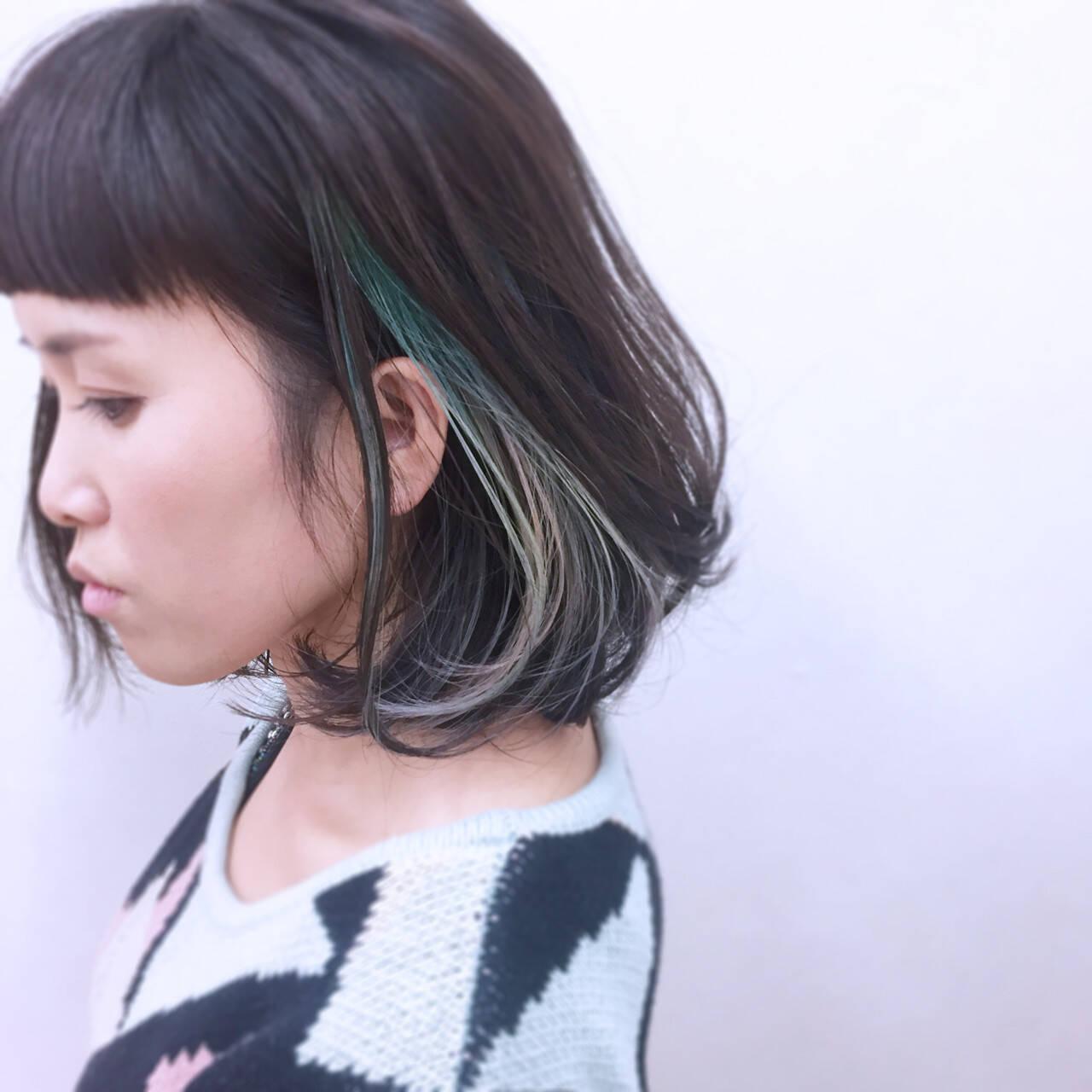 色気 ボブ ウェットヘア 暗髪ヘアスタイルや髪型の写真・画像