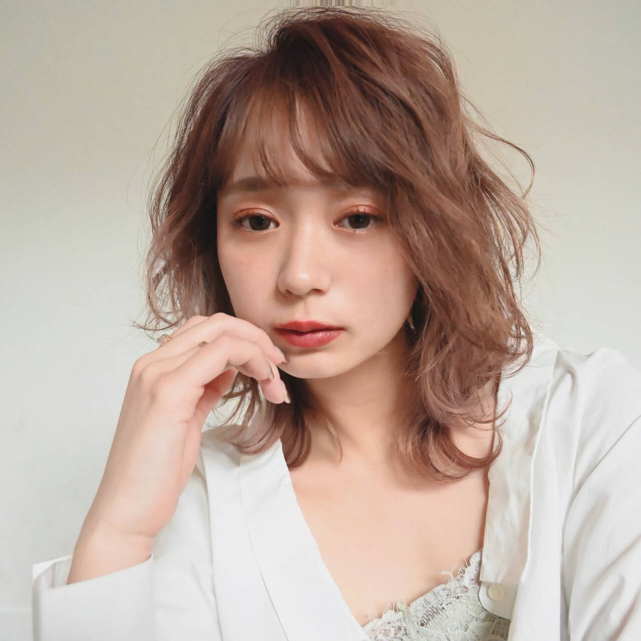 ミディアム おフェロ ゆるふわパーマ モテ髪ヘアスタイルや髪型の写真・画像