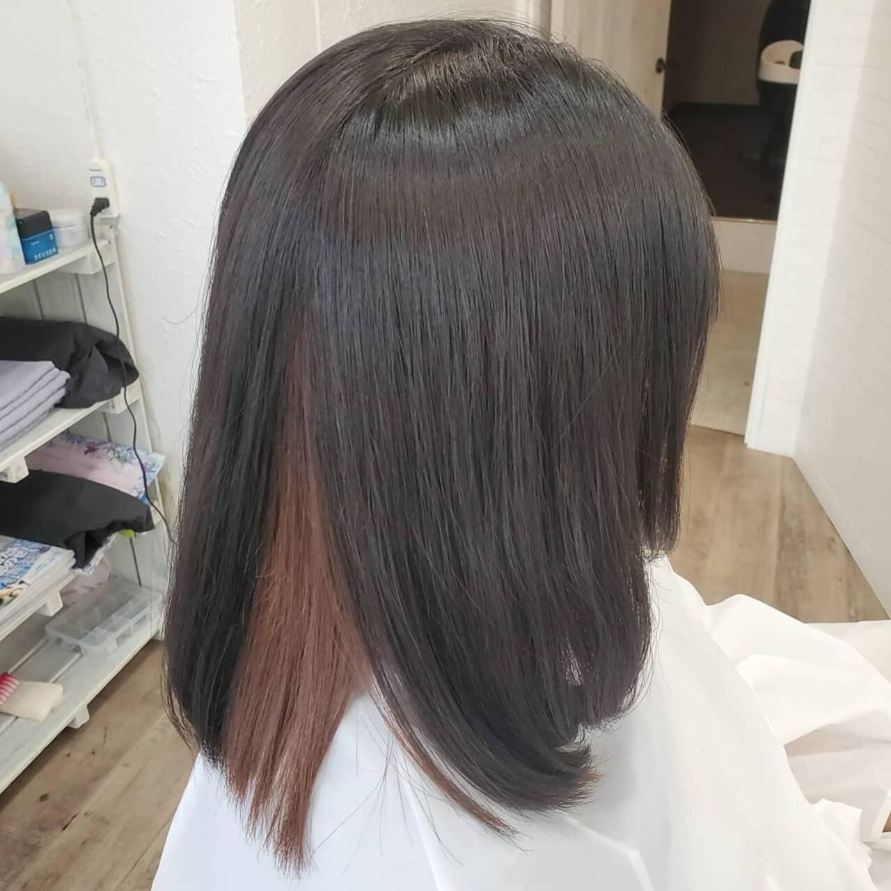 艶髪 縮毛矯正名古屋市 縮毛矯正 縮毛矯正ストカールヘアスタイルや髪型の写真・画像
