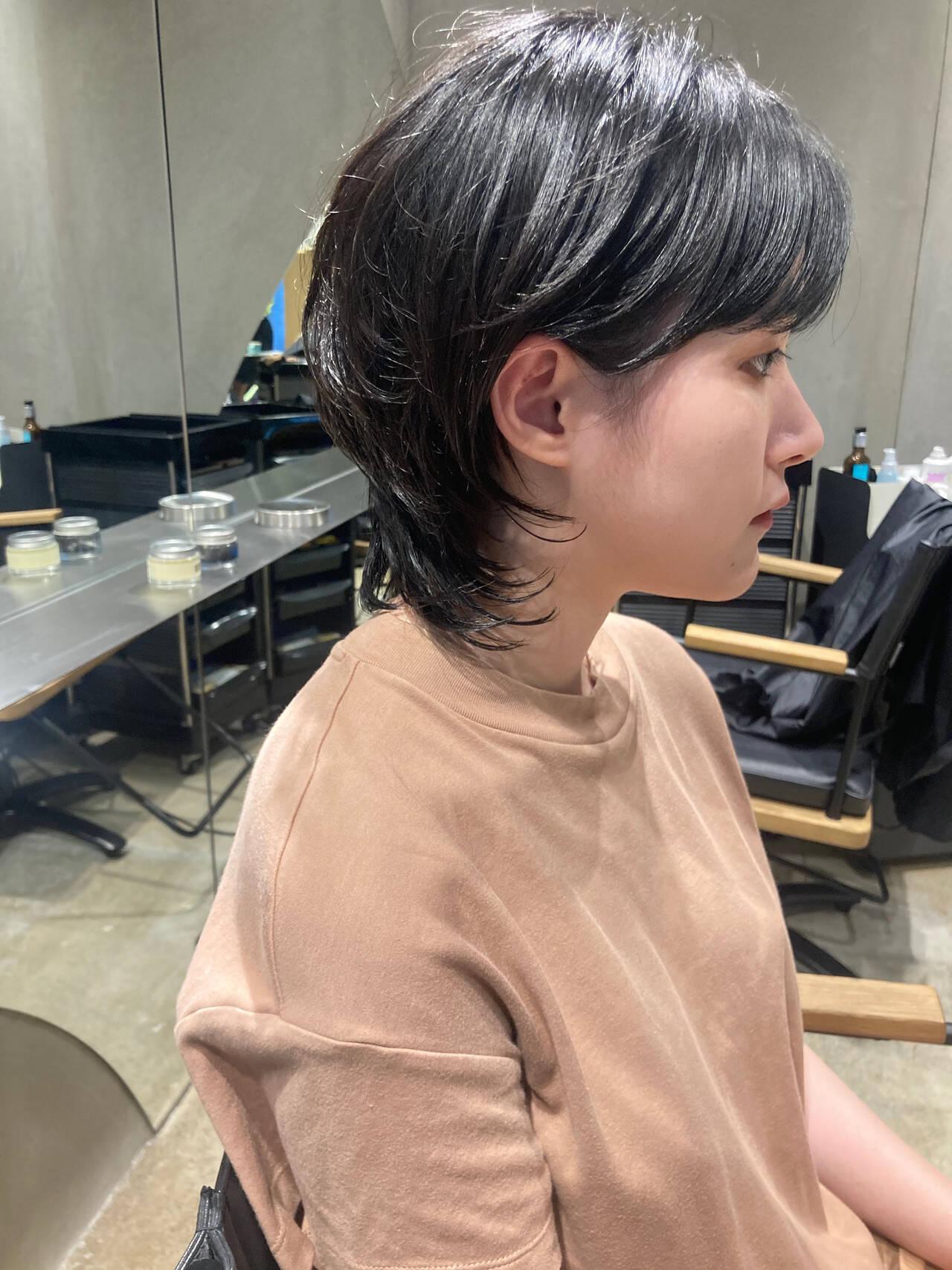 ニュアンスウルフ ストリート ウルフパーマ ウルフカットヘアスタイルや髪型の写真・画像