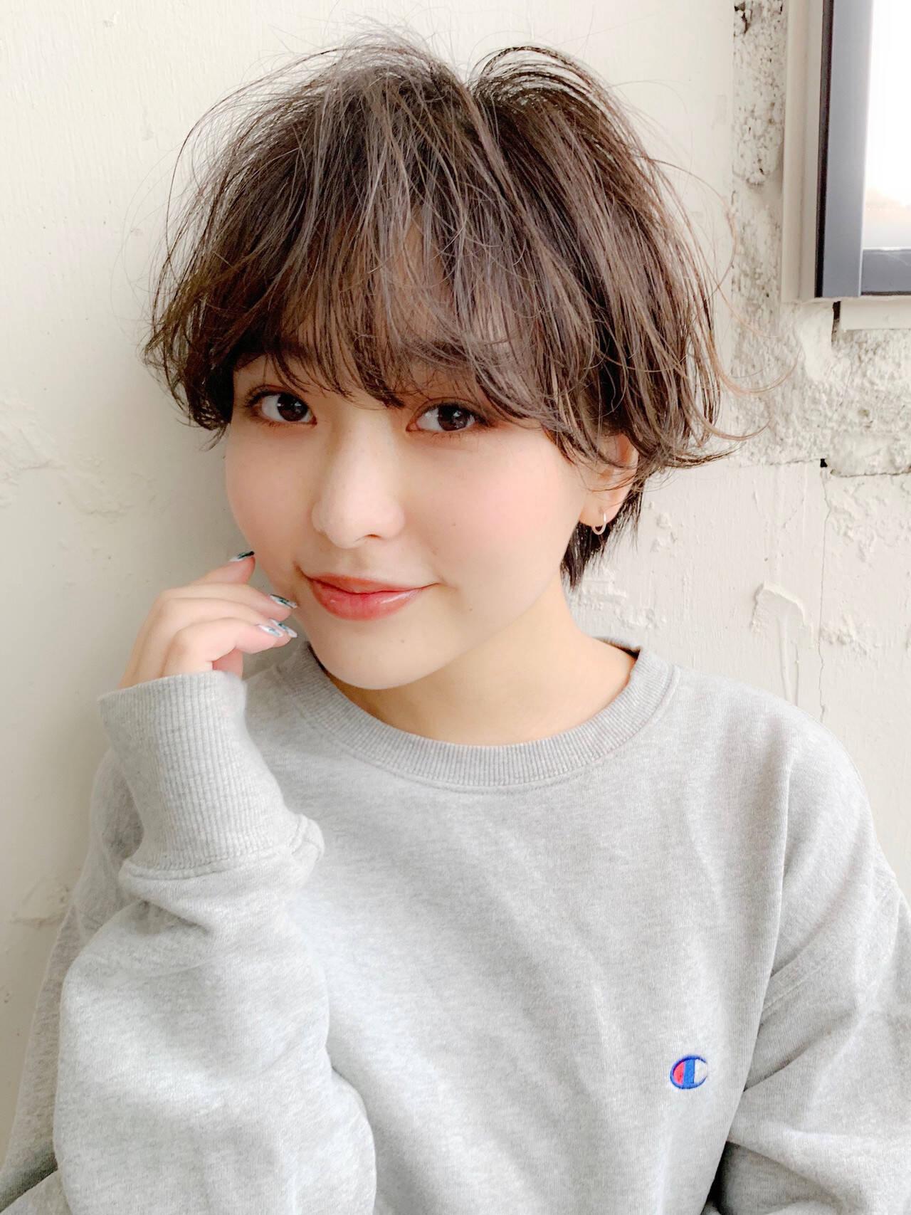ショートボブ フェミニン 小顔ショート ショートヘアスタイルや髪型の写真・画像