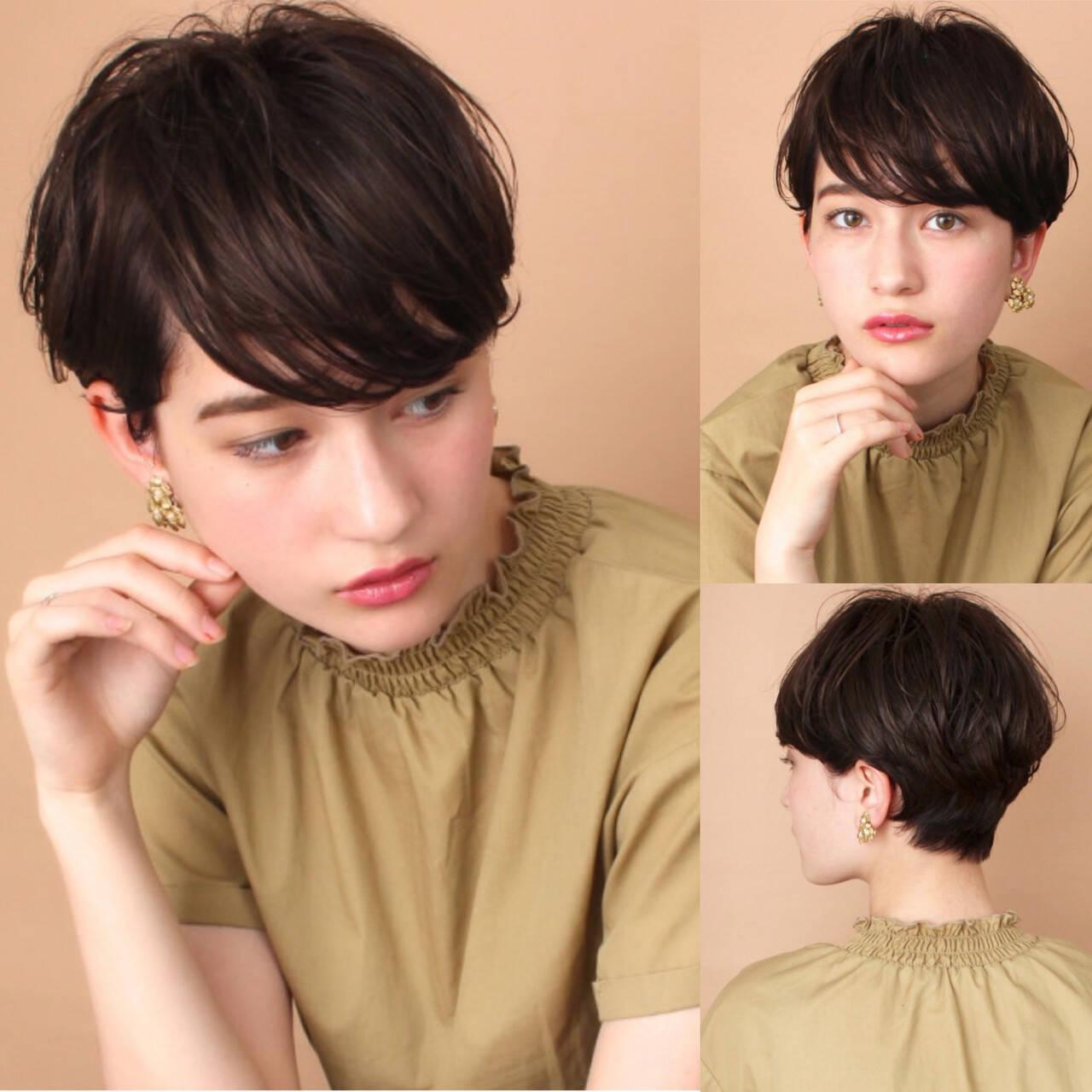 ナチュラル 吉瀬美智子 田丸麻紀 ショートヘアスタイルや髪型の写真・画像