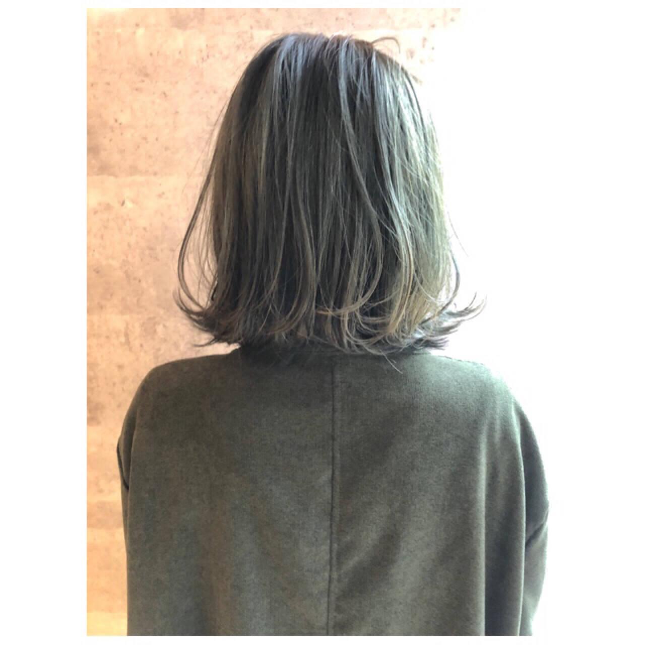ボブ ナチュラル 外ハネ 大人女子ヘアスタイルや髪型の写真・画像