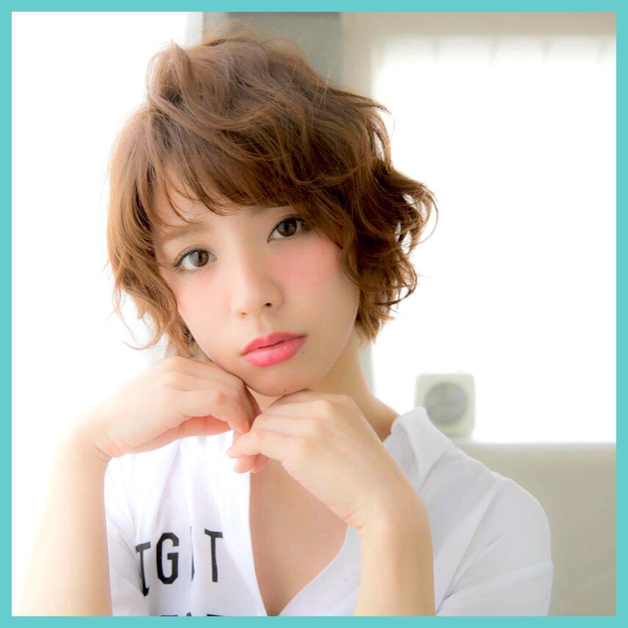 ヘアアレンジ ショート ガーリー モテ髪ヘアスタイルや髪型の写真・画像