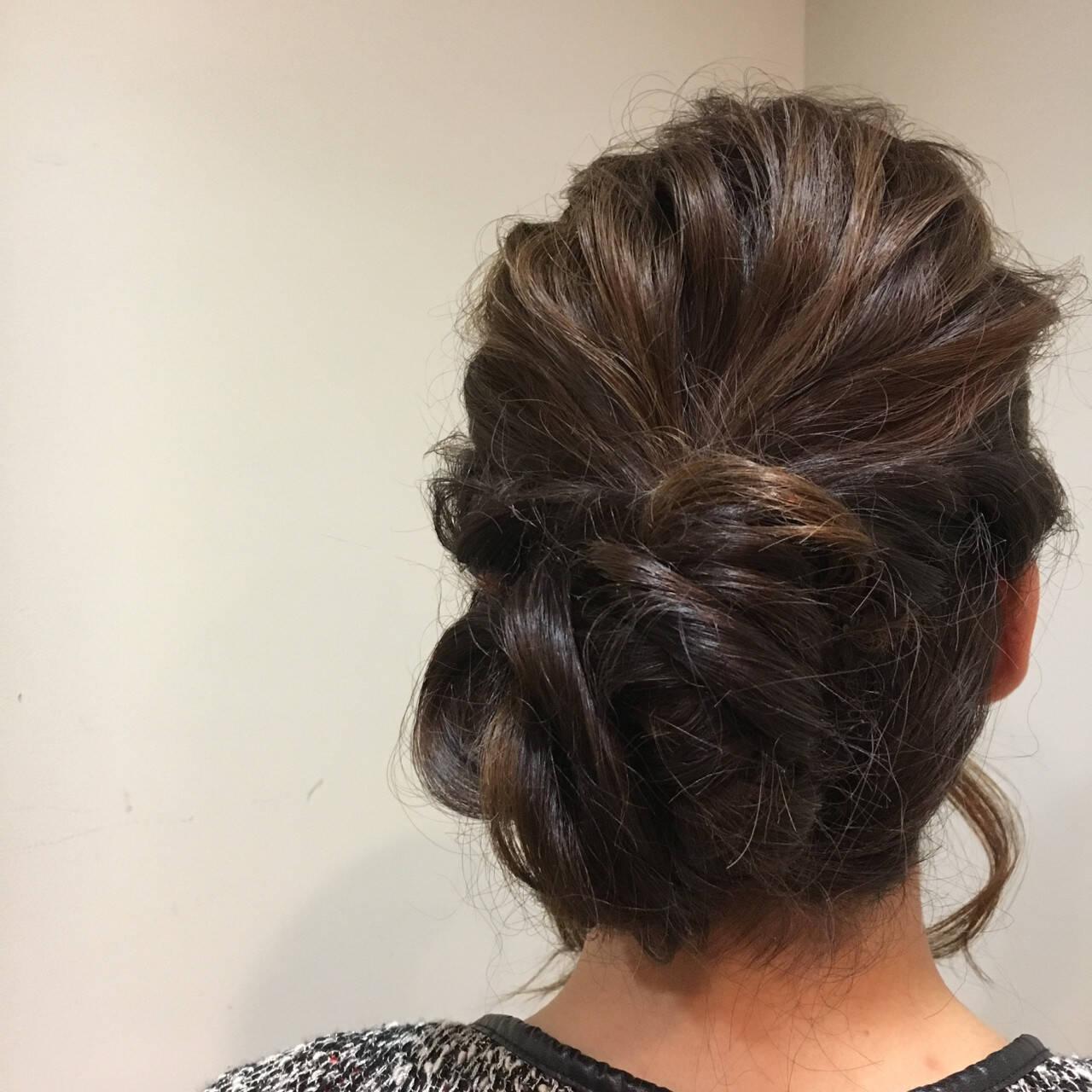 フェミニン 結婚式 ロング ゆるふわヘアスタイルや髪型の写真・画像