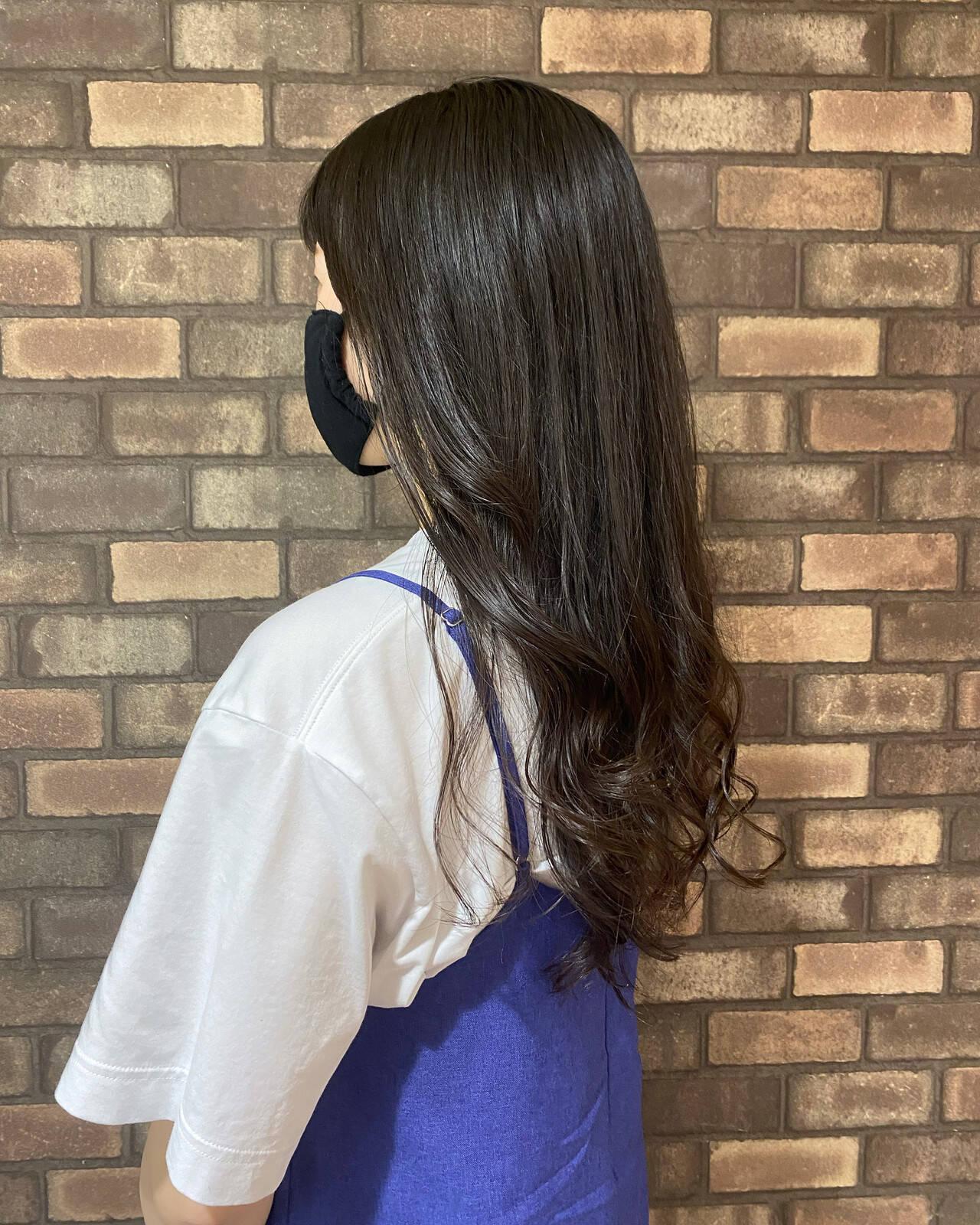 ロングヘアスタイル ロング 透明感 イルミナカラーヘアスタイルや髪型の写真・画像